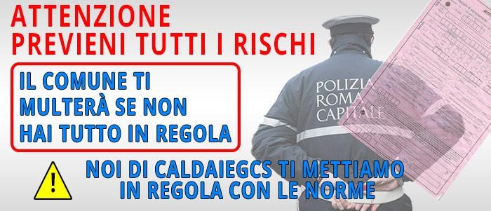 avviso caldaie roma gcs assistenza normative revisione caldaie roma