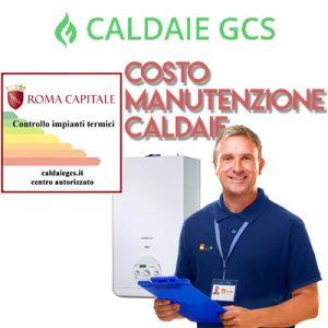 costo manutenzione caldaie